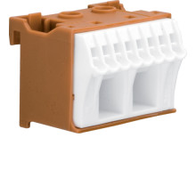 Блок фазных клемм 2x16мм2+8x4мм2 ширина 45мм Hager QiuckConnect KN10P
