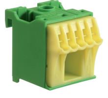 Блок PE-клема 1x16мм2+5x4мм2 ширина 30мм Hager QiuckConnect KN06E