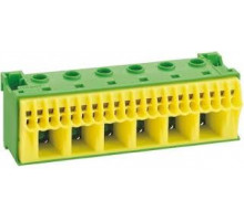 Блок PE-клема 5x16мм²+17x4мм² ширина 90мм Hager QiuckConnect KN22E