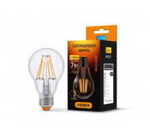 Лампа LED Filament A60F 7W E27 4100K 220V VIDEX