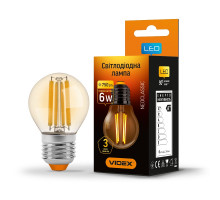 Лампа LED Filament G45FA 6W E27 2200K 220V VIDEX