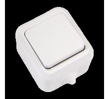 ВыключательодноклавишныйбелыйІР-44Makel18300