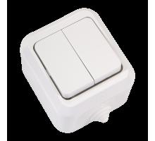 ВыключательдвухклавишныйбелыйІР-44Makel18301